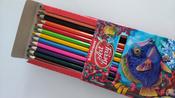 Акварельные карандаши шестигранные ArtBerry, с кисточкой, 12 цветов #14, Ольга У.