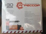 """Компрессор автомобильный """"Агрессор AGR-30L"""" со встроенным фонарем, металлический, производительность 30 л/мин, 12В, 140Вт #13, Татьяна"""