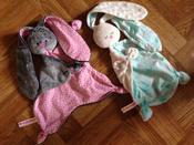 Игрушка комфортер для новорожденных, Плюш серо-коричневый, Мякиши #2,  Ксения
